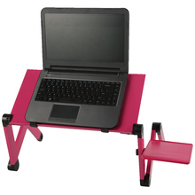 Portable Adjustable Foldable Laptop Notebook PC Desk Table Vented Stand Bed Tray with two fans N50*(China)