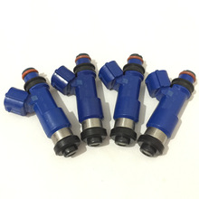 4x Flow matched E85 565 CC dark blue top feed OEM fuel injector for Subaru Impreza WRX STI EJ20 EJ25 EJ255 EJ257 turbo