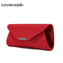 LOVEVOOK fashion women evening clutches bag female crossbody bags ladies envelope purse for party with chains(China)
