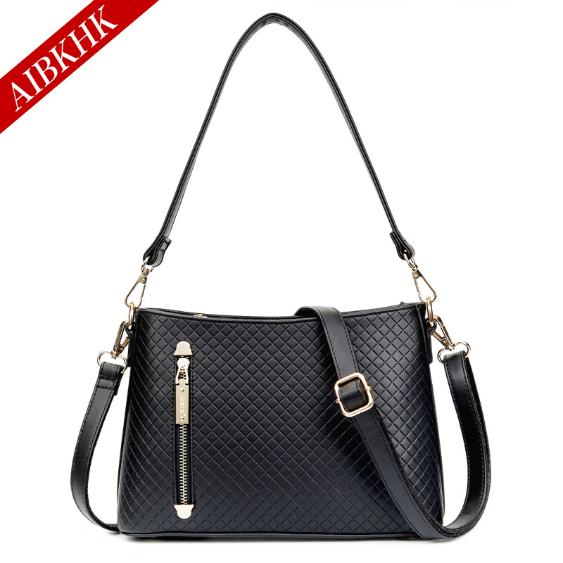 Casual Fashion High End Shoulder Bag Casual Handbag Vintage Large Capacity Pretty Ladies Solid Classic Messenger Crossbody Bag<br>