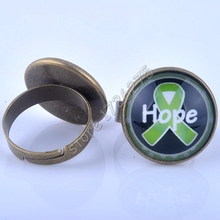 Newest 2016 Power Rings  Breast Cancer Awareness HOPE Picture Glass Cabochon Ring for women Jewelry  XY160011