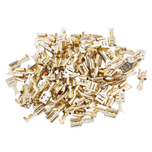 100 Pcs Car Speaker 6.3mm Female Spade Terminal Wire Connector(China)