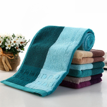2017 new 1pcs 100g Plain Dyed 34*75cm face towel Durable Fast Drying 100%cotton Bath Towel Travel Gym Camping Sport