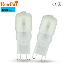 ECOCAT Mini LED G9 Light 5W SMD2835 G9 LED Lamp 220V 240V LED Bulb Lampada LED Chandelier Lamps Lighting Warm White/Cold White
