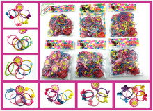 50pcs/bag 35mm Cartoon Candy Colored Child Baby Kids Ponytail Holders Hair Accessories For Girl Rubber Band Tie Gum (Mix Color)(China)