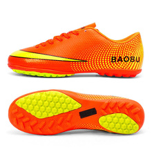 Baobu Children Men Kids Football Boots Athletic Soccer Shoes TF Turf Robber Soles Soccer Cleats botas de futbol