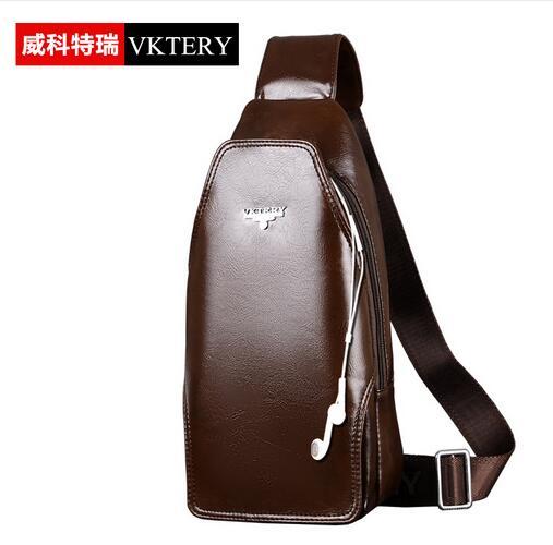 VKTERY Fashion Men Women Luxury Brand PU Leather Chest Bag Popular Lovers Casual Shoulder Bag Couples Crossbody Bag Bolsas Male<br><br>Aliexpress