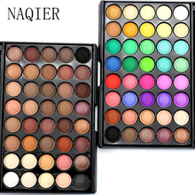 NAQIER 40 Color Matte Eye shadow Pallete Make Up NAKED EyeShadow Makeup Glitter Waterproof Lasting nude Makeup contour palette(China)
