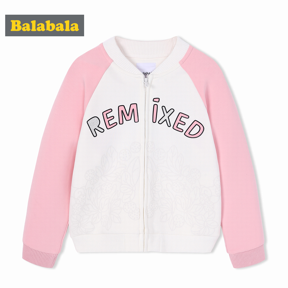 Balabala girls coats and jackets Fashion Clothes for girls children clothes kids Clothing Spring Outwear Baseball Windbreaker<br>