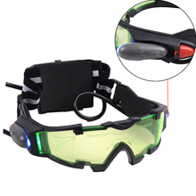 Hot Sell Fashion Men Cool Green Lens Adjustable Elastic Band Night Vision Goggles Glasses for Night Activities