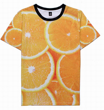 2017 Summer Men's New 3D Clothes Fruit Orange Tee Tops Sleeve Dry Quickly Shirt Man/Woman T-Shirt Plus Size JD-038(China)