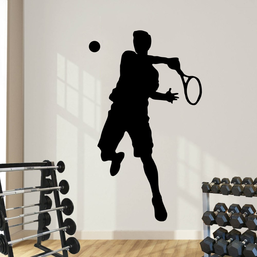 Home & Garden HOCKEY PLAYER Giant WALL STICKERS NEW MURAL Decals 42 Men's Boy's Sports Decor