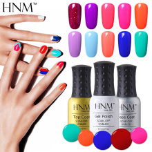 HNM 8ml Soak Off Gel Nail Polish UV LED Nail Gel Polish 58 Colors Gelpolish Vernis Semi Permanent Lacquer Gel Varnishes Gel Lak