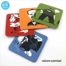 Placemat Coaster Cup Mat Mug Pads Customized Square Coaster Home Drink Coasters 25pcs/lot FREE Shipping