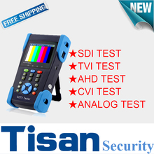 3.5 inch 2.0TVI CVI HD SDI AHD Analog CCTV tester Monitor with PTZ control , Color bar security test