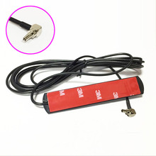 3G 4G LTE patch antenna 3dbi 3meters extension cable CRC9 male right angle connector for HUAWEI modem