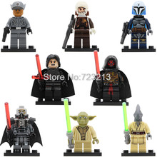 Single Sale PG8071 Coleman Trebor Dengar Darth Revan Clone Pao Figure Sith Lord Star Wars Yoda Kylo Ren Building Blocks Toy(China)