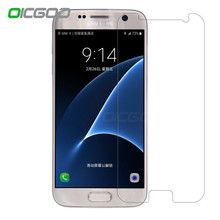 OICGOO 9H Premiun Tempered Glass For Samsung Galaxy S7 S6 S5 Screen Protector Front Glass For Samsung Galaxy S7 S6 S5 Glass Film(China)