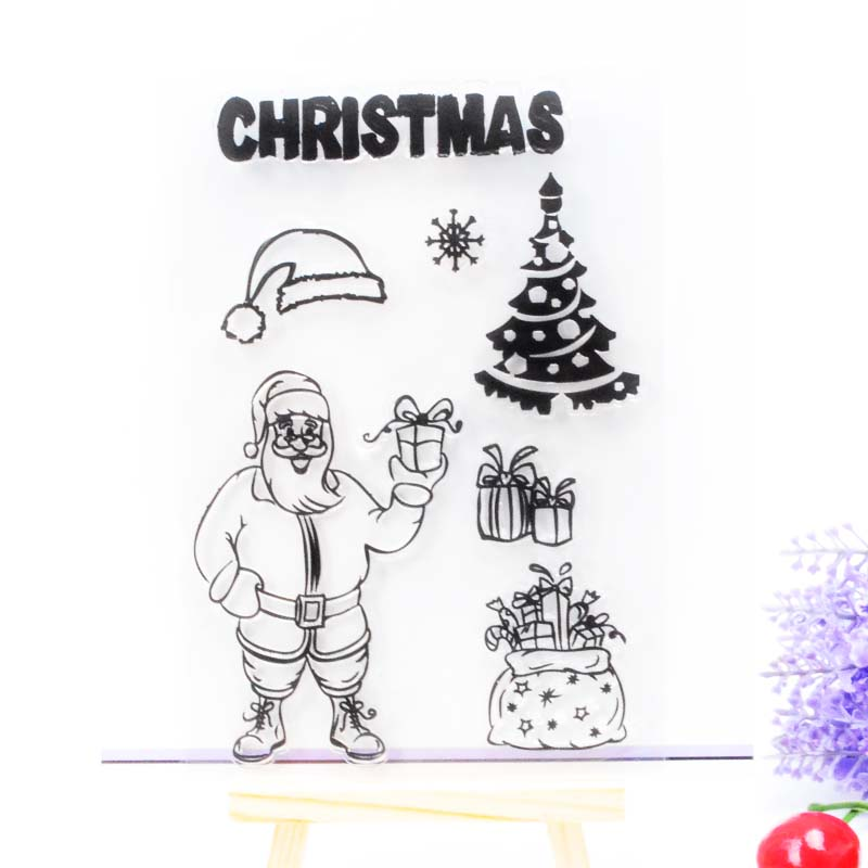 Clear Stamp Scrapbook DIY photo cards rubber stamp seal stamp christmas santa transparent silicone transparent stamp<br><br>Aliexpress