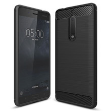 Newest Environmental Carbon Fiber TPU Case For Nokia 5 Cover 5.2 inch Soft Anti-drop Cover For Nokia 5 Nokia5 Back Cover capa