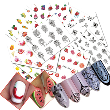 12 PCS Sweet Fruit Nail Art Water Transfer Sticker Nail Decorations Sets Women Makeup DIY Beauty Tattoos Tools CHSTZ489-500(China)