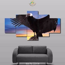 3-4-5 panels/set Eagle ready to take off Modern Home Wall Decor Canvas Picture Art HD Print Painting On Canvas For Living Room(China)