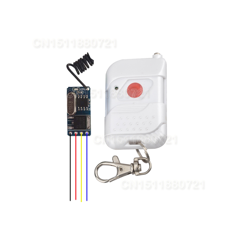 DC3V 3.7V 4V 4.5V 5V Micro Mini-sized Wireless Remote Control Switch Contactles Control System no noise Learning Momentary T<br><br>Aliexpress