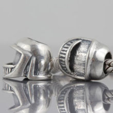 New DIY Sport Helmet Charms Original 100% Authentic 925 Sterling Silver Beads fit for Pandora bracelets & Necklaces