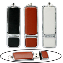 New Arrival Leather 64GB pen drive real capacity 4GB 8GB 16GB flash memory stick 32GB usb flash drive USB 2.0 U Disk