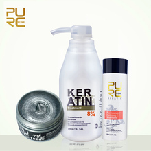 Hot selling PURC 8% formalin keratin Brazil Keratin Treatment and popular good dye trend gray color one time wash hair color(China)