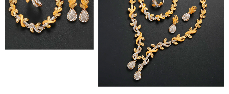 CWEEL Jewelry Sets Women Luxury African Beads Jewelry Set Imitation Crystal Jewerly Sets Vintage Egyptian Costume Jewelry (3)