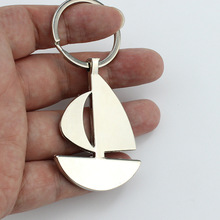 Custom engrave - New arrival Novelty Souvenir Metal sail or house Key Chain Creative Gifts Keychain Key Ring Trinket