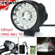 snowshine2#2001 bike light 32000LM 13 x 2017 XM-L T6 LED 6 x 18650 Bicycle Cycling Light Waterproof Lamp wholesale dd(China)
