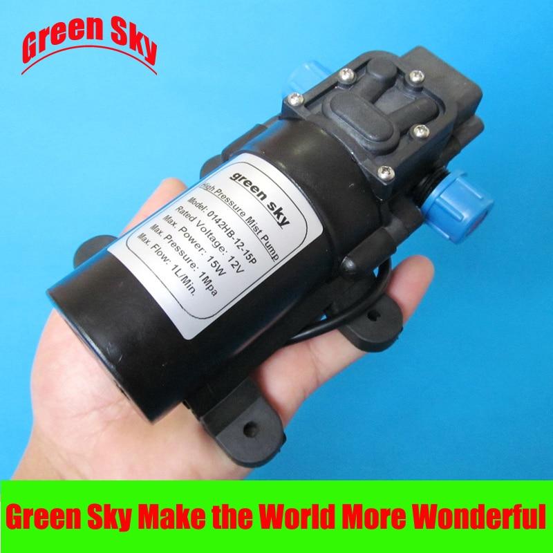 1L/min 12V DC 15W 1Mpa mist fog spray maker high pressure diaphragm misting pump<br><br>Aliexpress