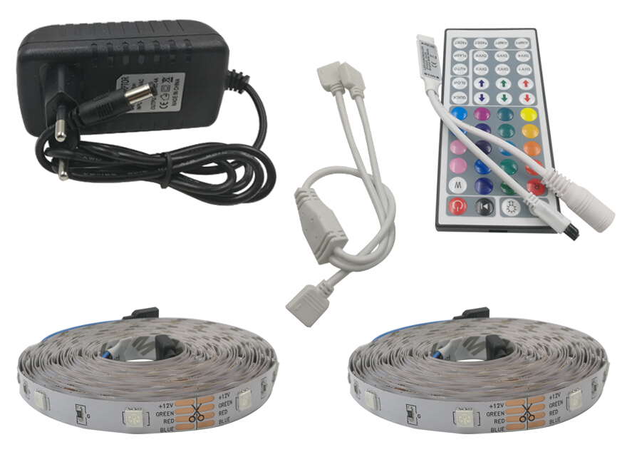 8M 10M 5050 RGB LED Strip 30LED/M 5M 4M led light Waterproof Tape DC 12V Ribbon RGB Flexible Light Strip Full set with Adapter