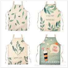 Japanese-style parent-child cloth simple cotton and linen apron home kitchen cleaning work clothes cafe shop aprons tablier