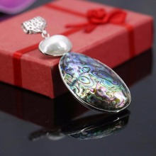 Natural abalone sea shells colours paua shell beads stone stripe pendant decoration jewelry making design gift women 40x52mm