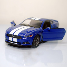 (10pcs/pack) Wholesale Brand New KT 1/38 Scale USA 2015 Ford Mustang GT Diecast Metal Pull Back Car Model Toy(China)