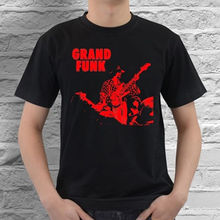 Print T-Shirt Mens Short Grand Funk Blues White Red Black T Shirt Cotton S M L XL XXL XXXL Size 2017 New T-Shirt
