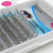 High Quality 0.15mm 3D Individual Silver Glitter Eyelash Extension Shiny False Eyelashes Synthetic Lashes Makeup Tool