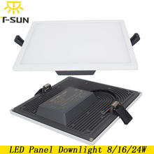 T-SUNRISE Ultra Thin LED Panel Downlight 8W 16W 24W Square Recessed Light Indoor Lighting LED lamps on the ceiling Fixtures