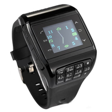 Wrist Watch Cell Phone Dual SIM Card Quad-band Keypad Touch Screen Q3 Phone Watch Black 88 CX88