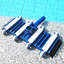 pisicina accessories 14inch pool cleaning vacuum head with bottom and side brushes limpeza de piscinas(China)