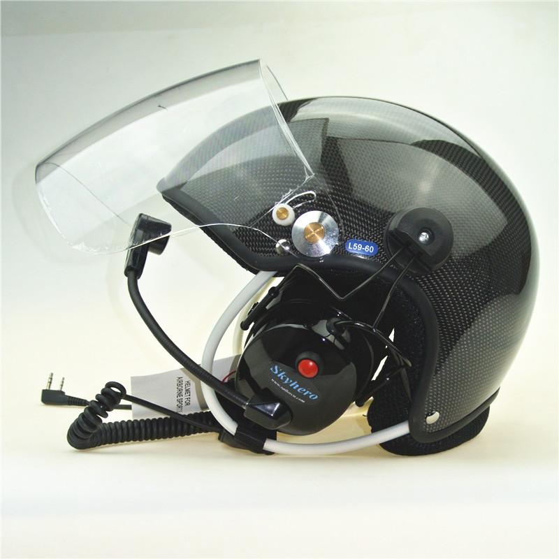 paramotor helmet carbon fiber
