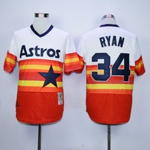 MLB Men's Houston Astros Jose Ryan 34 Richard 50 Nolan Ryan Craig Biggio Jeff Bagwell 1980 Throwback Baseball Jerseys(China)