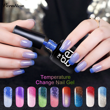 Verntion Thermo Nail Polish Gel Varnishes Soak Off  Mood Temperature Change Color LED UV Lucky Gel Polish Nail Art