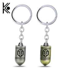 Game World of Tanks keychain WOT around Collector's Edition shells keychain pendant World of Tanks Cool Key Chain men gift(China)