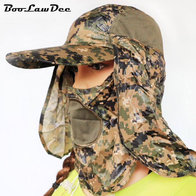 BooLawDee Cool camouflage leisure forest hat multiway wear polyester 360 degrees full protection patchwork free size 4F005Одежда и ак�е��уары<br><br><br>Aliexpress