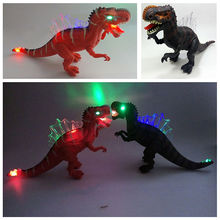 43*11*24CM Electronic Flashing Dinosaur Cool Animals Toys Sounding Flashing Moving Electronic Dinosaur Toys For Birthday Gift(China)