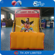 Door to Door Delivery Cow Boy Inflatable Dart game / small inflatable game / inflatable dart booth for kids